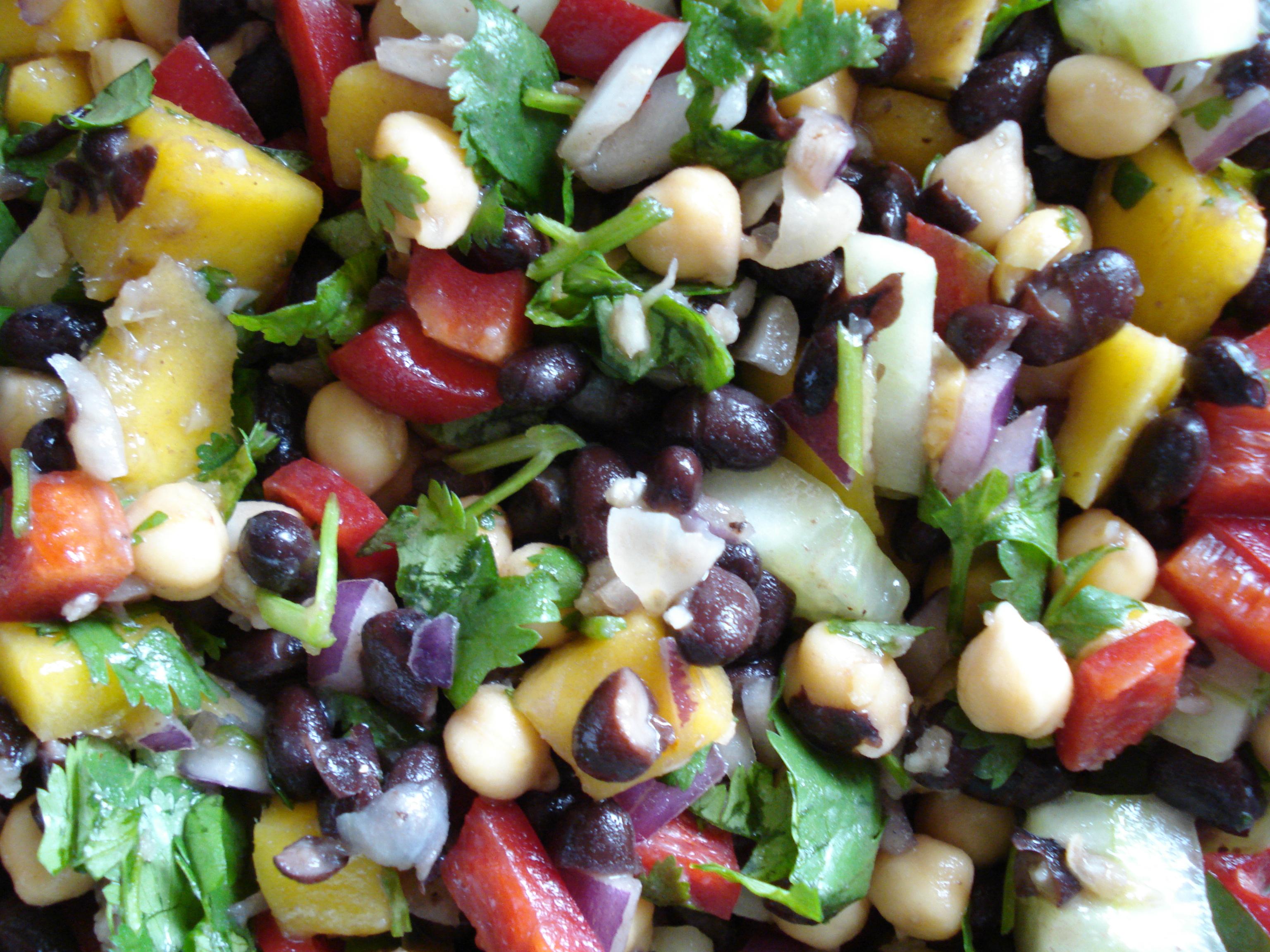 Mango Bean Salad Recipe Cat Can Cook