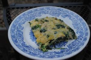 Spinach, Mushroom & Parmesan Frittata