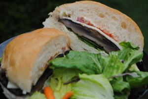 Portobello-Swiss Mushroom Burger