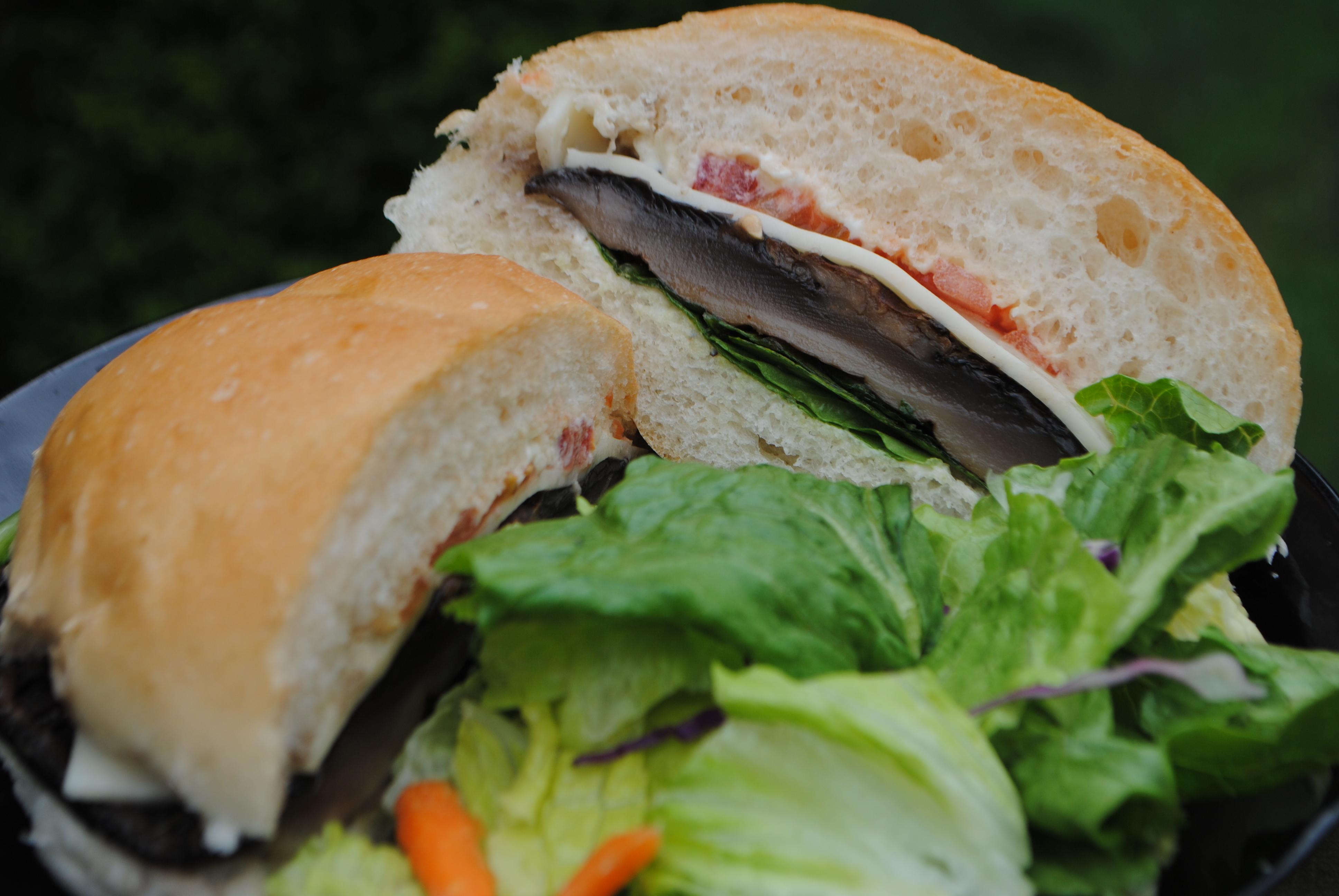 Portobello-Swiss Mushroom Burgers