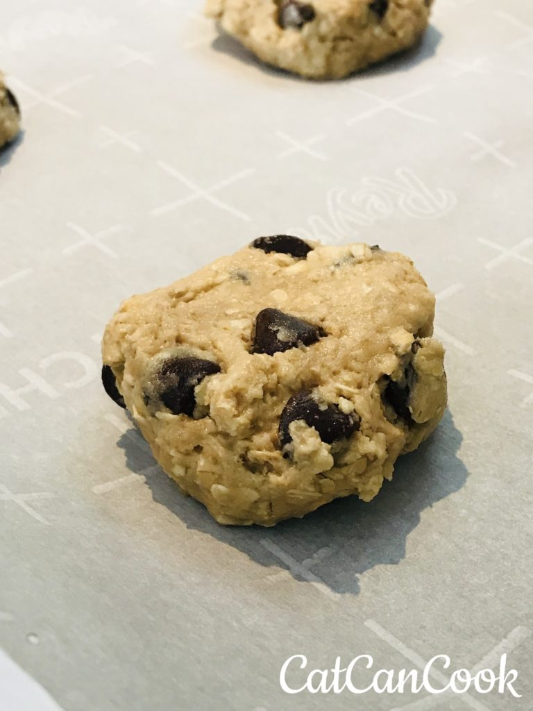 Baking Easy Oatmeal Chocolate Chip Cookies